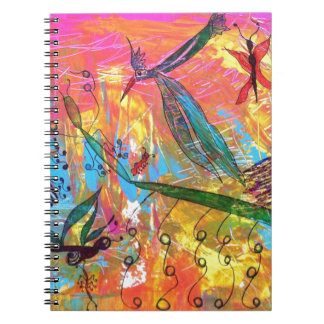Whimisical Birds and Bugs Art Painting Note Book