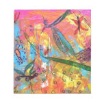 Whimisical Birds and Bugs Art Painting Memo Notepads