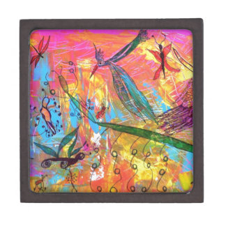 Whimisical Birds and Bugs Art Painting Premium Trinket Boxes