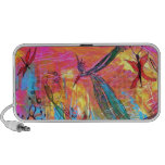 Whimisical Birds and Bugs Art Painting Travelling Speaker