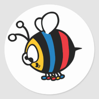 Whimisical Cartoon Bee Stickers