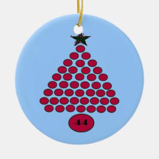 Whimisical Obama 44 Christmas Ornament