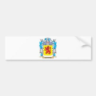 Whimper Coat of Arms - Family Crest Car Bumper Sticker