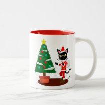 Whim's Santa! Two-Tone Coffee Mug