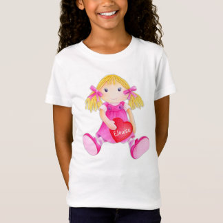 Whimscal rag doll girls add your name t-shirt