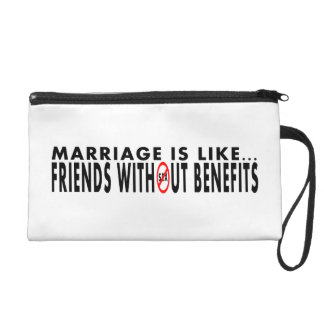 Whimscial Marriage Themed Wristlet