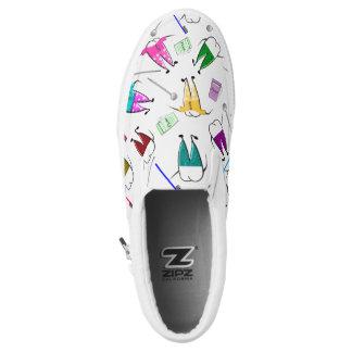 Whimscial Teeth People White Slip-On Sneakers