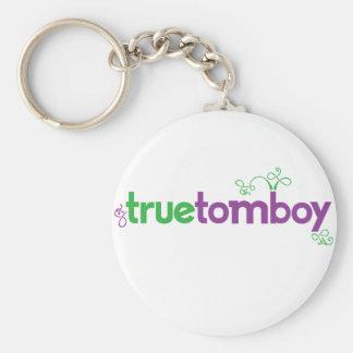 Whimsen True Tomboy Basic Round Button Keychain