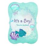 Whimsey Aquarium 2 ITS A BABY BOY GIRL SHOWER Custom Announcement