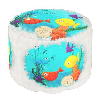 Whimsey Aquarium Cartoon Fish Pouf