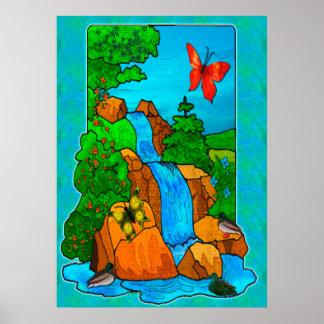 Whimsey Falls Nature Fantasy Poster