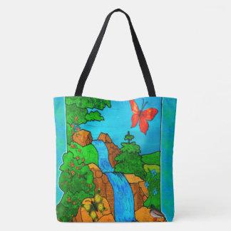 Whimsey Falls Nature Fantasy Tote Bag