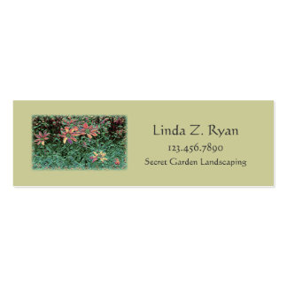 Whimsey Garden design feathered craquelure Mini Business Card
