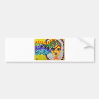 Whimsey Hair  Gal Bumper Sticker