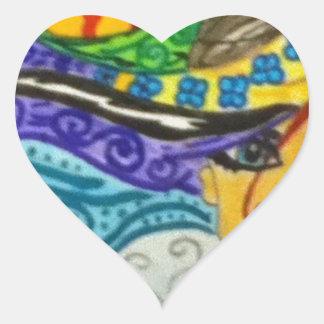 Whimsey Hair  Gal Heart Sticker
