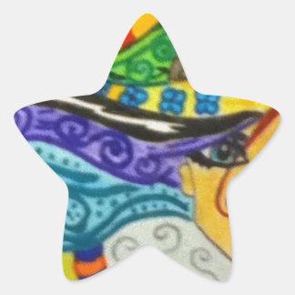 Whimsey Hair  Gal Star Sticker