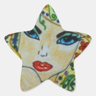 Whimsey Hair. Star Sticker