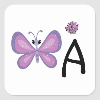 Whimsey The Butterfly Square Sticker