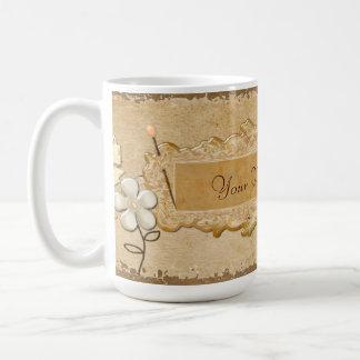 Whimsey Vintage Autumn Custom Named or Business Coffee Mug