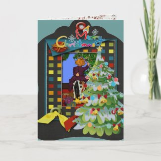 Whimsical 3d Christmas Holiday Greeting Card