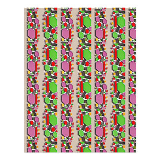 Whimsical ABSTRACT Art : Simple Artistic Pattern Letterhead