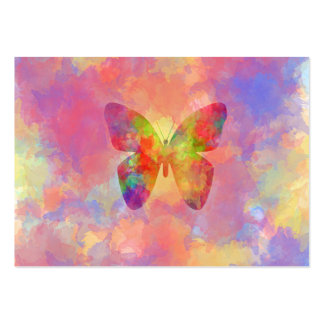 Whimsical Abstract Butterfly Rainbow Watercolor Large Business Cards (Pack Of 100)