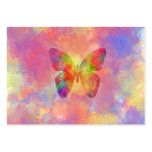 Whimsical Abstract Butterfly Rainbow Watercolor Business Cards