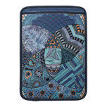 Whimsical Abstract Doodle Pattern Blue and  Purple MacBook Air Sleeves
