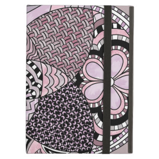 Whimsical Abstract Doodle Pattern Pink and  Purple iPad Air Cover
