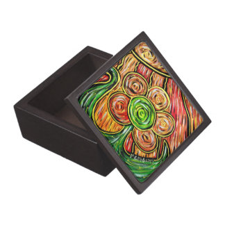 Whimsical Abstract Flower Jewelry Box