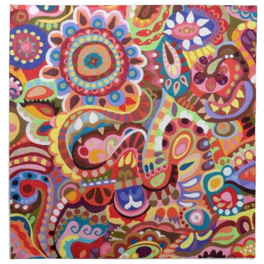 Whimsical Abstractl Art Napkin Set