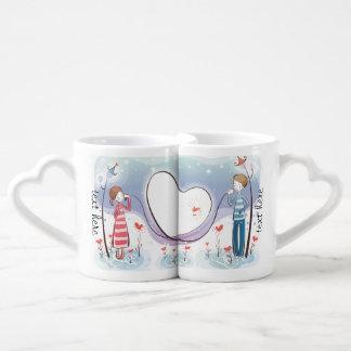 Whimsical Across the Miles Couples Mug