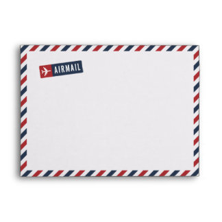Whimsical Airmail Envelope