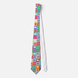 Whimsical Airplane, Helicopter, & Hot Air Balloon Neck Tie