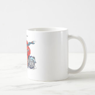 Whimsical Alaska King Crab on motorcycle Mug