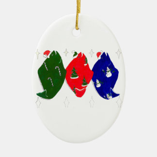 Whimsical Alaskan Wildlife Cute Christmas Ornament