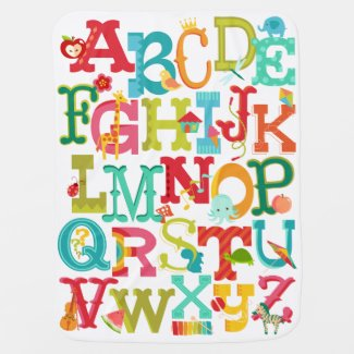 Whimsical Alphabet Baby Blanket