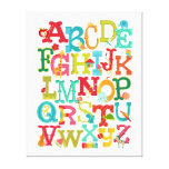Whimsical Alphabet for Kids Stretched Canvas Art