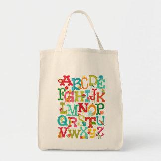 Whimsical Alphabet for Kids Tote Bag