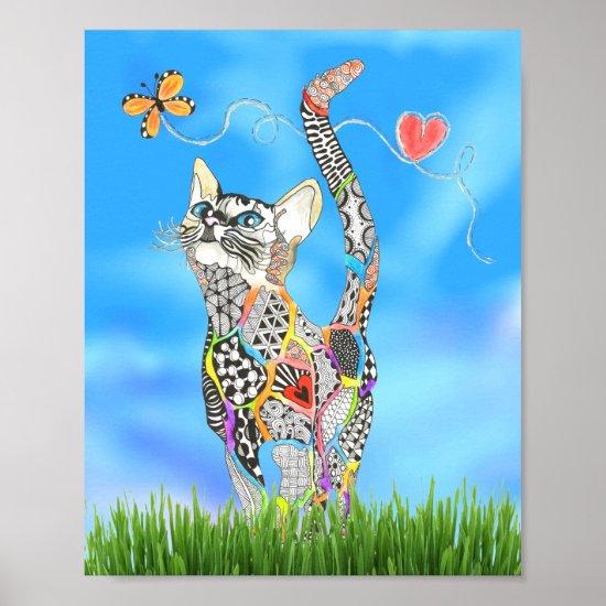 Rainbow Kitty design on a poster
