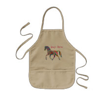 Whimsical and Colorful Rainbow Horse Kids' Apron