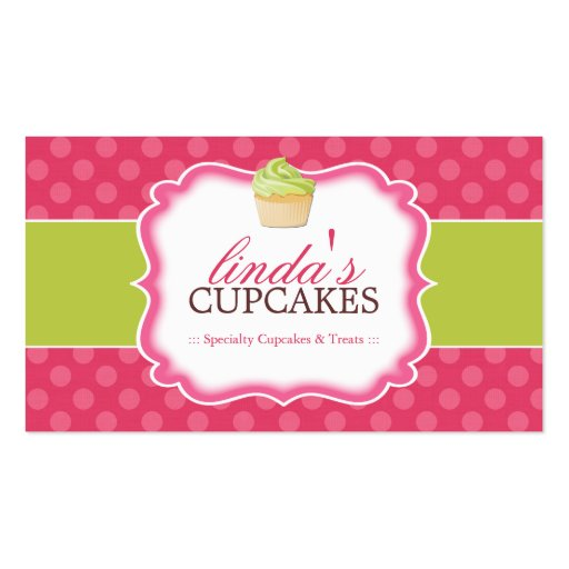 Whimsical and Cute Cupcake Business Cards