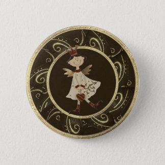 Whimsical Angel Princess Classy Festive Button