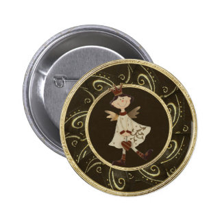 Whimsical Angel Princess Classy Festive Button