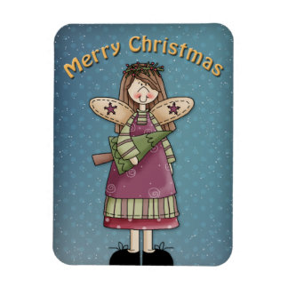 Whimsical Angel with tree Magnet