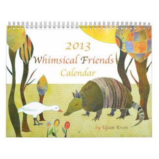 Whimsical Animal Friends Cute Kids Calendar 2013