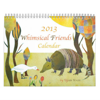 Whimsical Animal Friends Cute Kids Calendar 2013