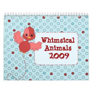 Whimsical Animals Calendar