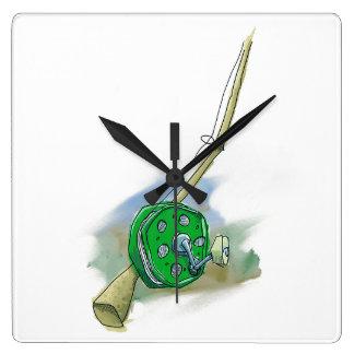 Whimsical Antique Fishing Reel Clock