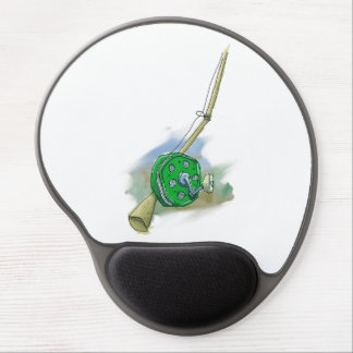 Whimsical Antique Fishing Reel Gel Mousepad